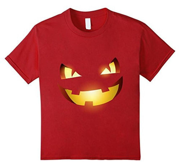 Halloween Scary Pumpkin Face Halloween Costume T-shirt Cranberry / 3XL T-Shirt BelDisegno