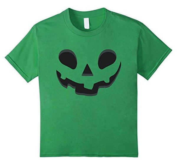 Halloween Scary Pumpkin Face Halloween Costume T-shirt Green / XL / Women T-Shirt BelDisegno