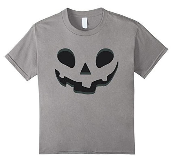 Halloween Scary Pumpkin Face Halloween Costume T-shirt Heather Grey / XL / Women T-Shirt BelDisegno