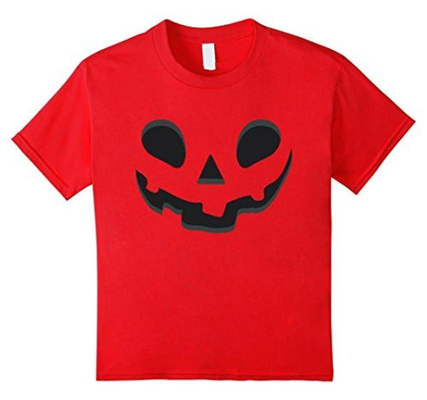 Halloween Scary Pumpkin Face Halloween Costume T-shirt Red / XL / Women T-Shirt BelDisegno