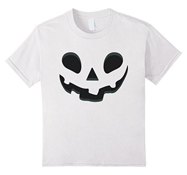 Halloween Scary Pumpkin Face Halloween Costume T-shirt White / XL / Women T-Shirt BelDisegno