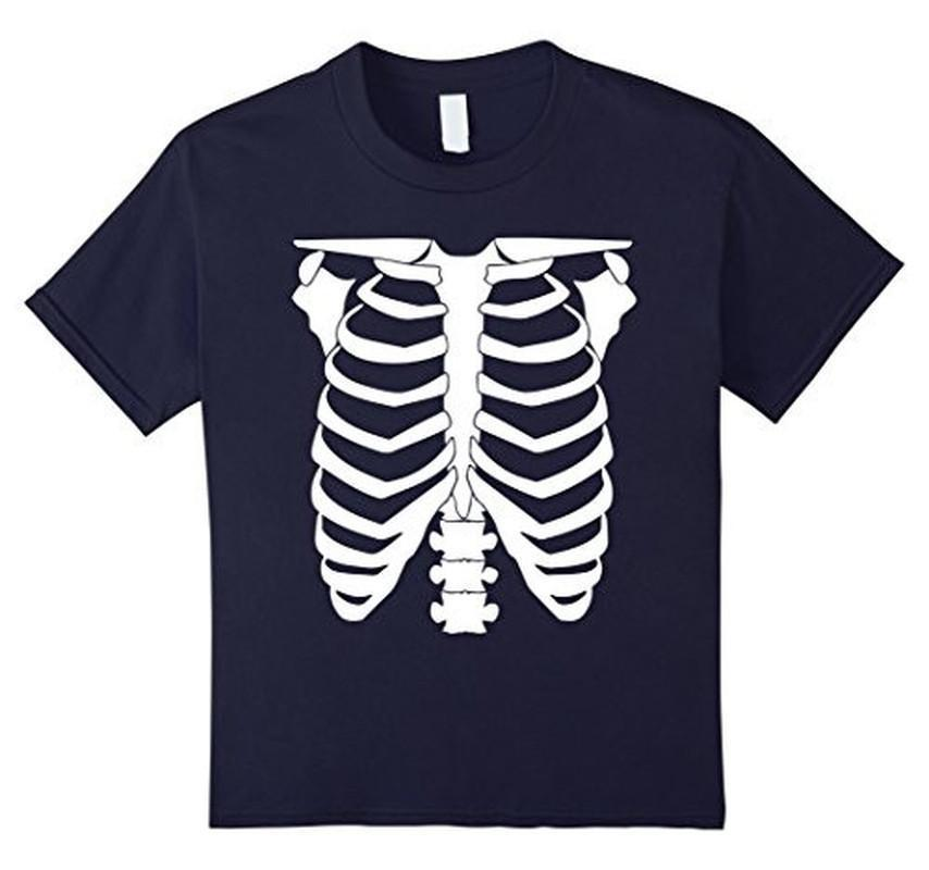 Halloween Skeleton T-shirt Navy / 3XL T-Shirt BelDisegno