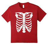 Halloween Skeleton T-shirt Red / 3XL T-Shirt BelDisegno