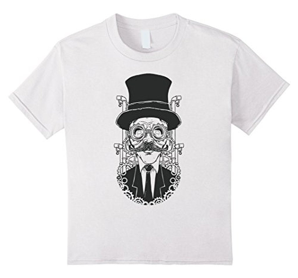 Hand painted steampunk man illustration T funny T-shirt  T-Shirt BelDisegno