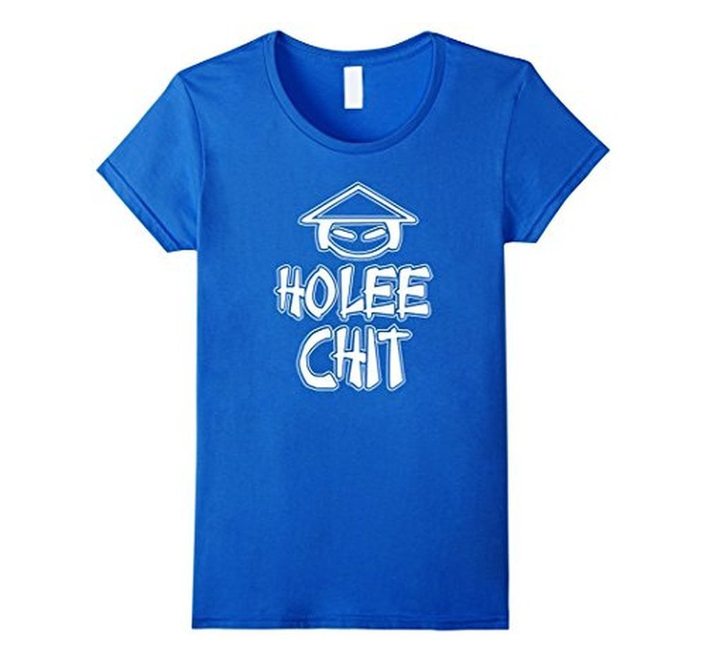 HO LEE CHIT Funny Novelty Graphic Holy Shit men T-shirt Royal Blue / 3XL T-Shirt BelDisegno