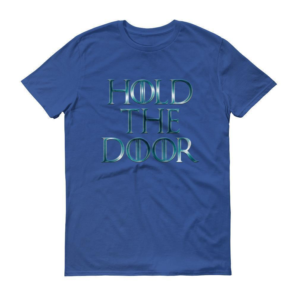 Hold The Door HODOR T-shirt Royal Blue / 3XL T-Shirt BelDisegno
