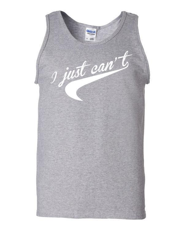 I Just Can't. Nice Parody Tail graphic Tank Top Sport Grey / 2XL Tank Top BelDisegno