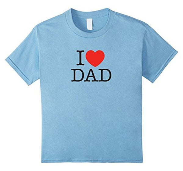 I Love Dad Birthday Gifts Father's day Gift TShirt-T-Shirt-BelDisegno-Baby Blue-S-BelDisegno