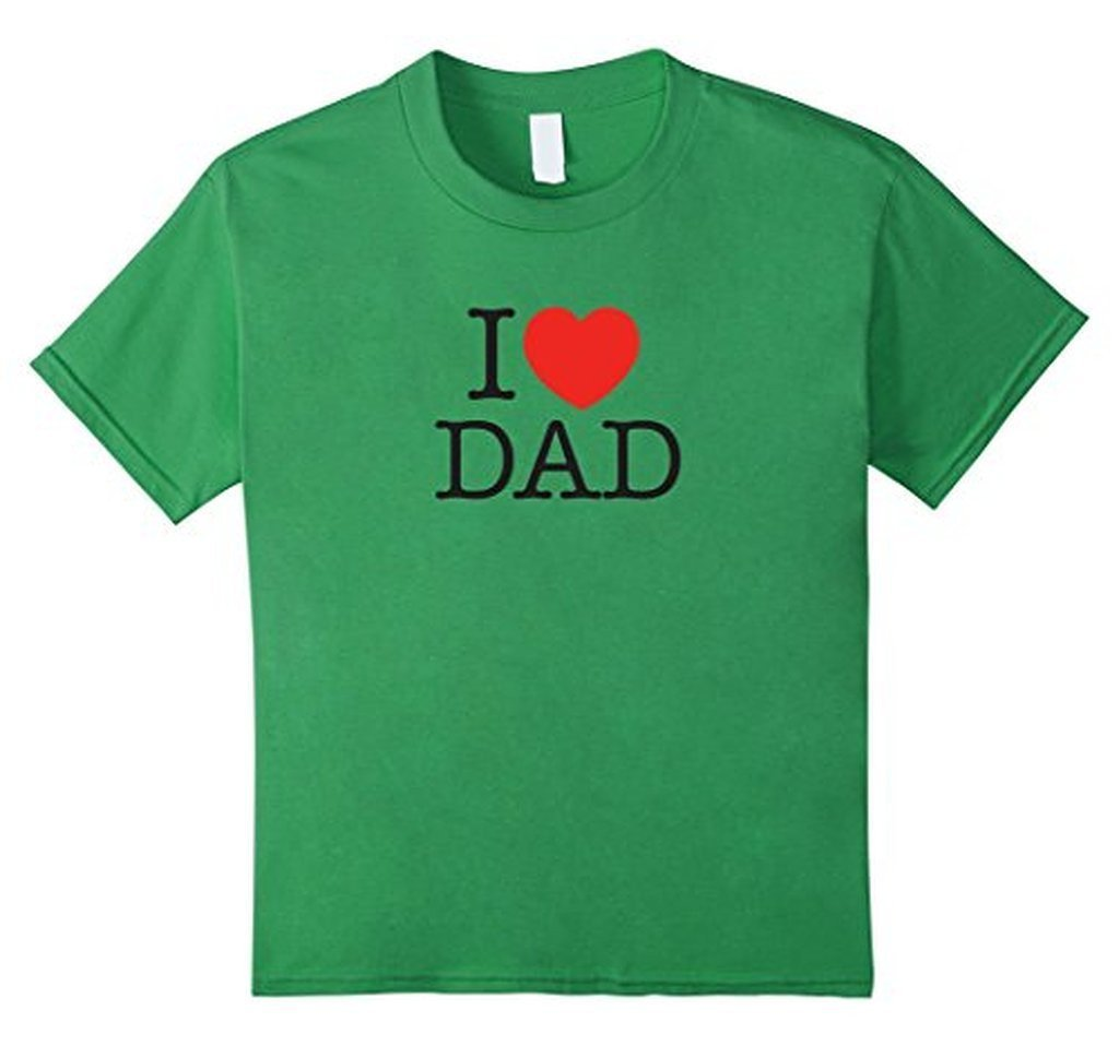 I Love Dad Birthday Gifts Father's day Gift T-shirt Grass / 3XL T-Shirt BelDisegno