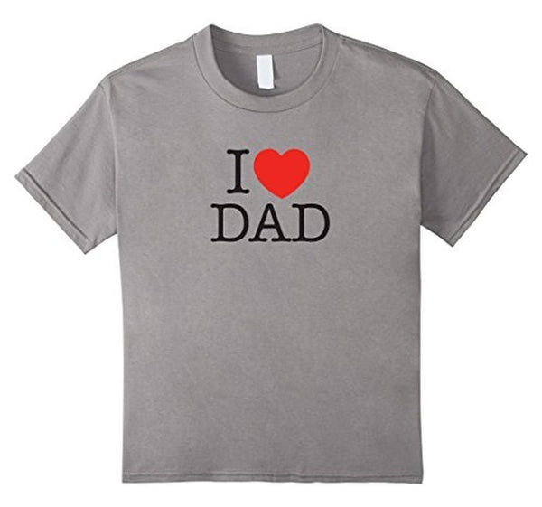 I Love Dad Birthday Gifts Father's day Gift TShirt-T-Shirt-BelDisegno-Heather Grey-S-BelDisegno