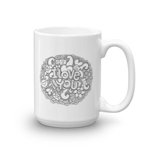 I love you Valentine gift Coffee Mug 15oz Mug BelDisegno