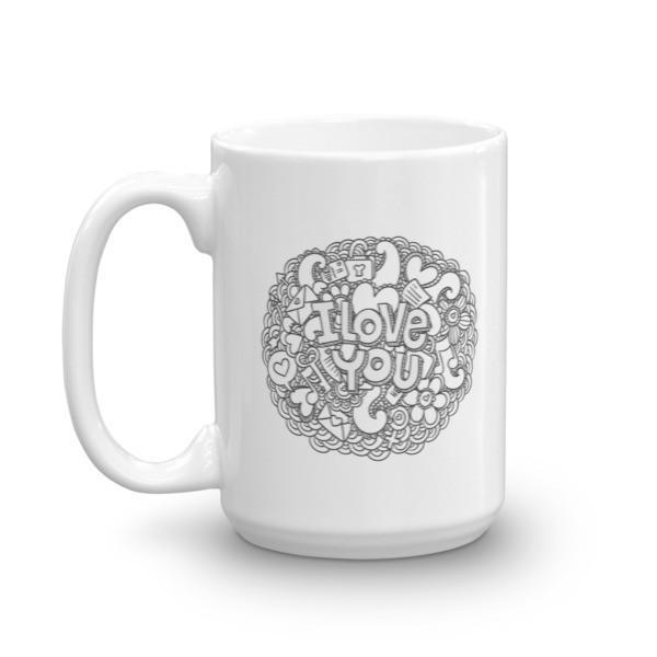 I love you Valentine gift Coffee Mug  Mug BelDisegno