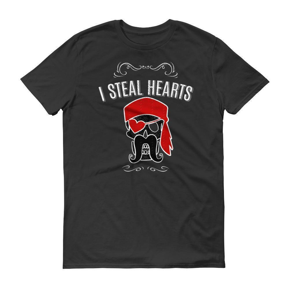 I Steal Hearts Valentines Day Gifts Grunge Graphic T-shirt Black / 3XL / Men T-Shirt BelDisegno