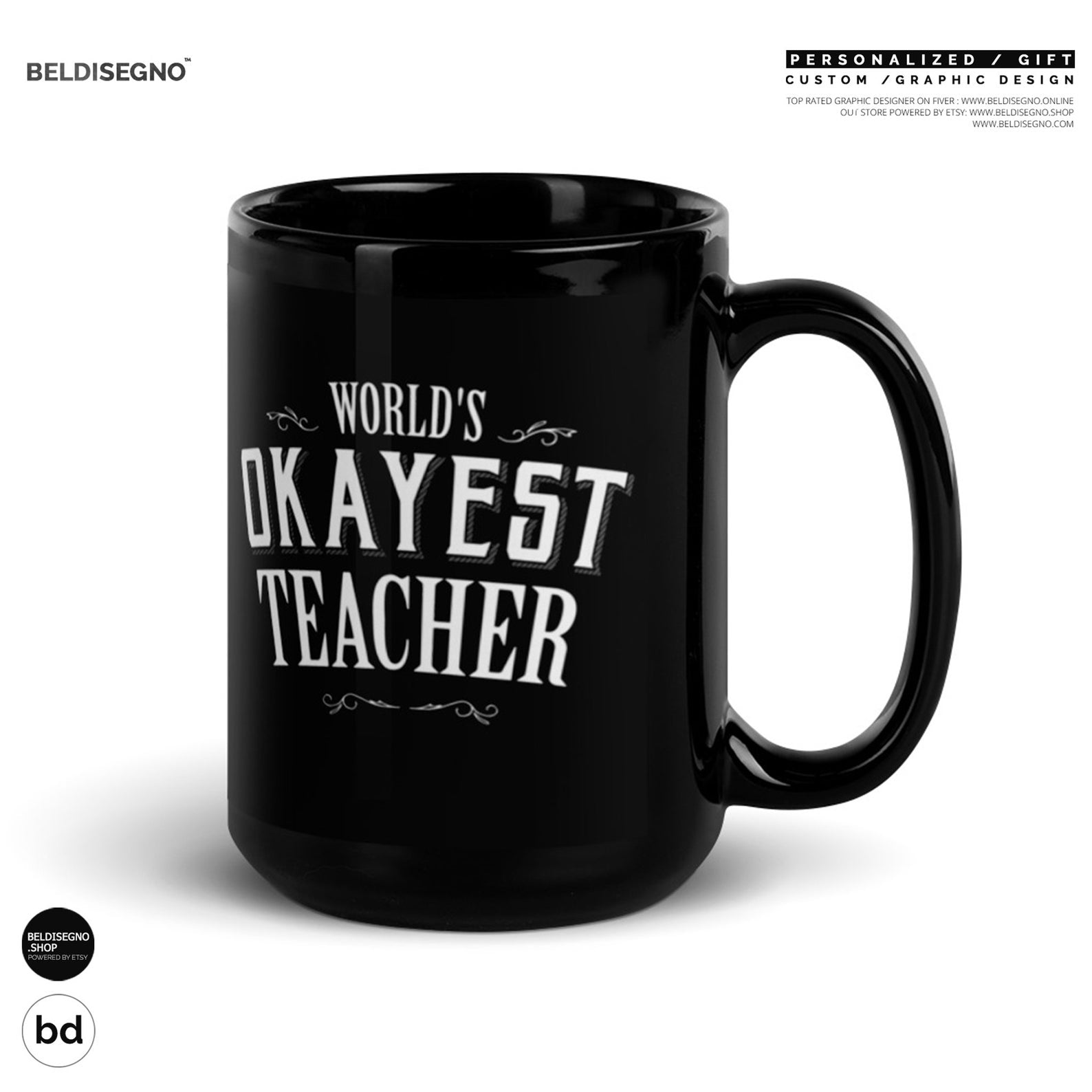 World's Okayest Teacher Coffee Mug