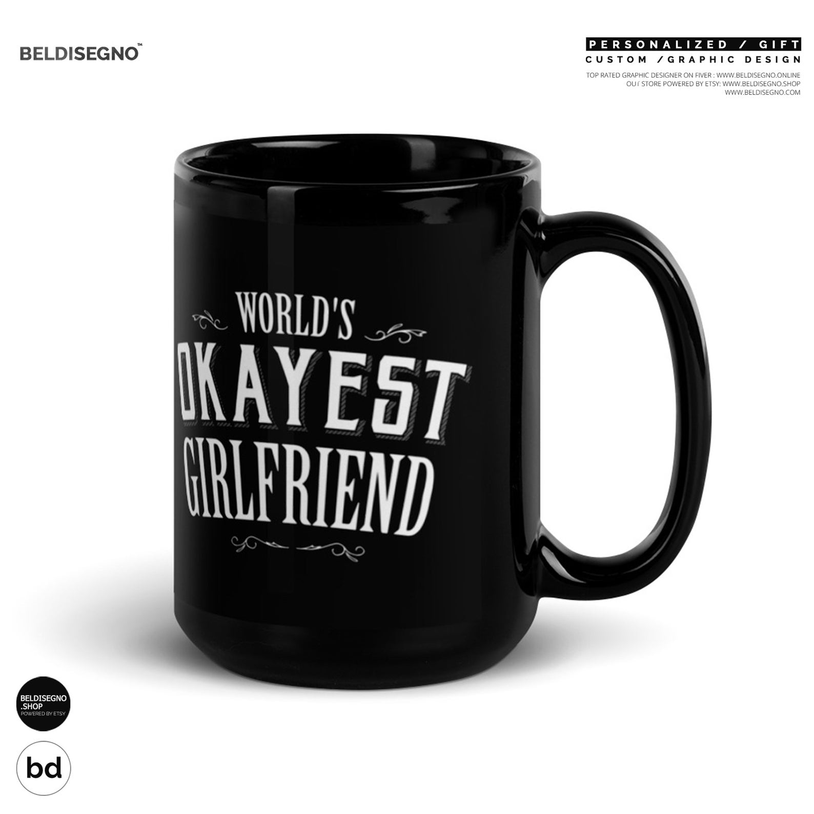 Gift for Girlfriend Mug World's Greatest Girlfriend Coffee Mug
