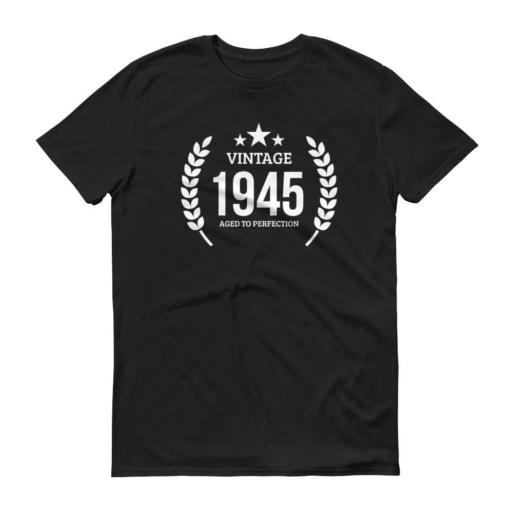 1945 Birthday Gift, Vintage Born in 1945 t-shirt for men, 75th Birthday, Made in 1945 T-shirt, 75 Year Old Birthday Shirt - 1945 Collection