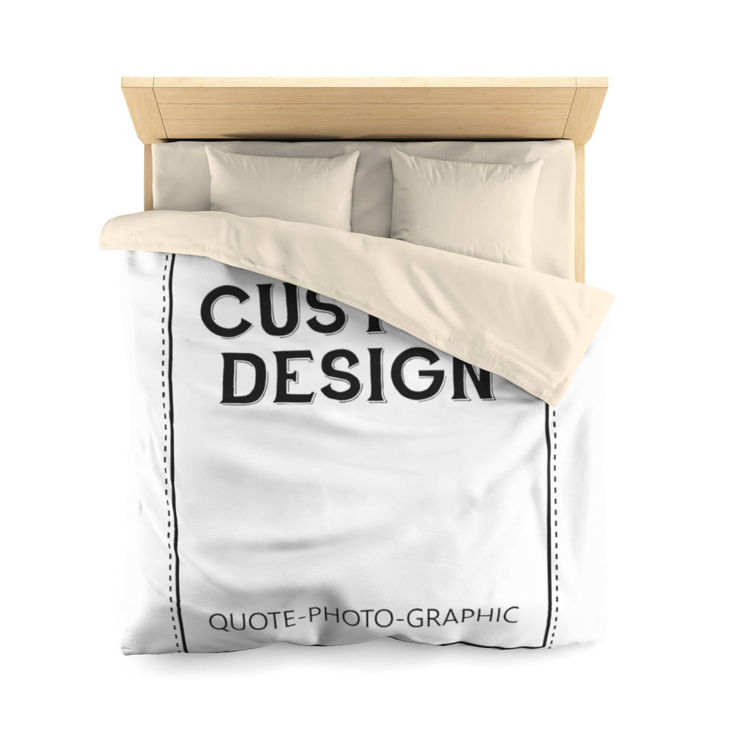 Personalized Microfiber Duvet Cover  Customize With your photo Logo Graphic custom text quote Custom Microfiber Duvet Cover