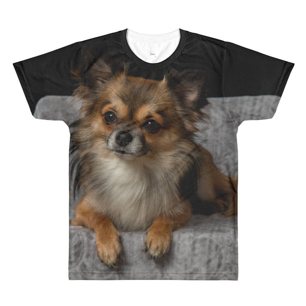 Custom All-Over Cut & Sew Women's T-shirt -Personalized Printed T-Shirt - Custom Sublimation T-Shirt - custom dog picture shirt   BelDisegno