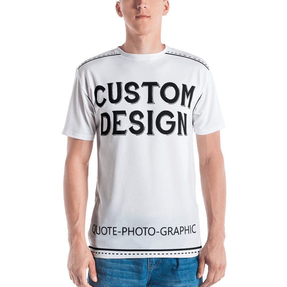 b817d61f Custom All-Over Cut & Sew Men's T-shirt -Personalized Printed T-Shirt