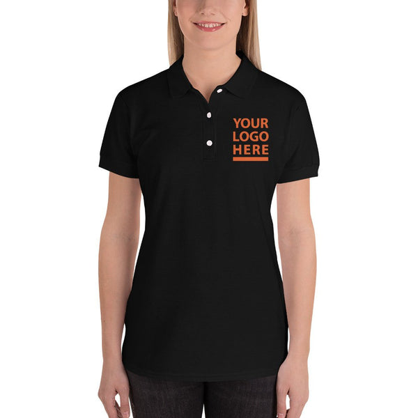 Embroidered Women's Polo Shirt - Performance Polo Shirts - Personalized Collar Embroidery Tees embroidered business polo shirts   BelDisegno