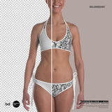 Personalized Bikini - Custom design Bikini Swimsuit with custom text design photo picture on it - Creative design idea bikini