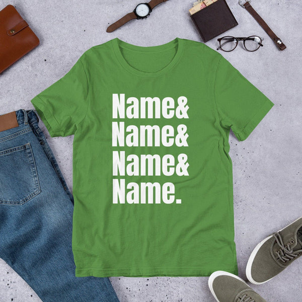 Custom Name List T-shirt - Personalized Name tshirt  name t-shirt with names  custom made t-shirt Customize With Your Name   BelDisegno