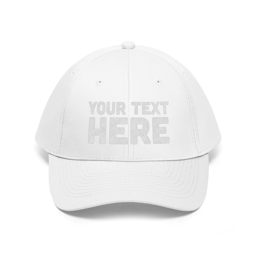 Custom Unisex Twill Hat - Personalized Embroidered Dad Hat Embroidery - Custom Cotton Twill Hat, personalized cap custom embroidery   BelDisegno