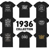 1936 Birthday Gift, Vintage Born in 1936 t-shirt for men, 84th Birthday, Made in 1936 T-shirt, 84 Year Old Birthday Shirt - 1936 Collection