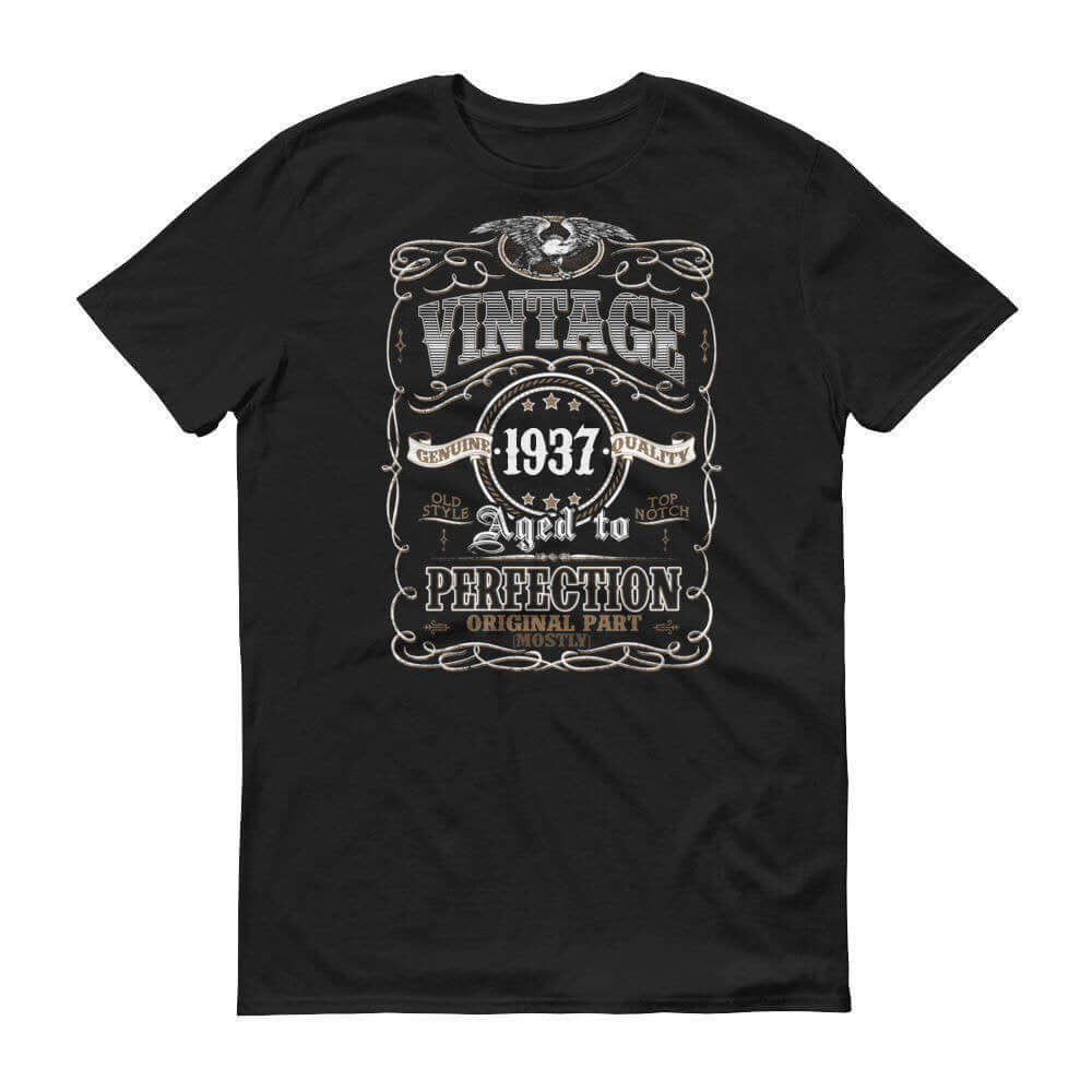 1937 Birthday Gift, Vintage Born in 1937 t-shirt for men, 83rd Birthday, Made in 1937 T-shirt, 83 Year Old Birthday Shirt - 1937 Collection