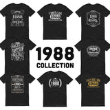 1988 Birthday Gift, Vintage Born in 1988 t-shirt, 32nd Birthday shirt, Made in 1988 T-shirt, 32 Year Old Birthday Shirt 1988 Collection