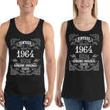 1964 Birthday Gift, Vintage Born in 1964 Tank tops for men women, 56th Birthday shirt for him her, Made in 1964 Tanks, 56 Year Old Birthday Size: XSDesign: #4Color: Black