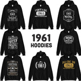 1961 Birthday Gift, Vintage Born in 1961 Hooded Sweatshirt for women men, 59th Birthday hoodies for her him, Made in 1961 Hoodie 59 Year Old