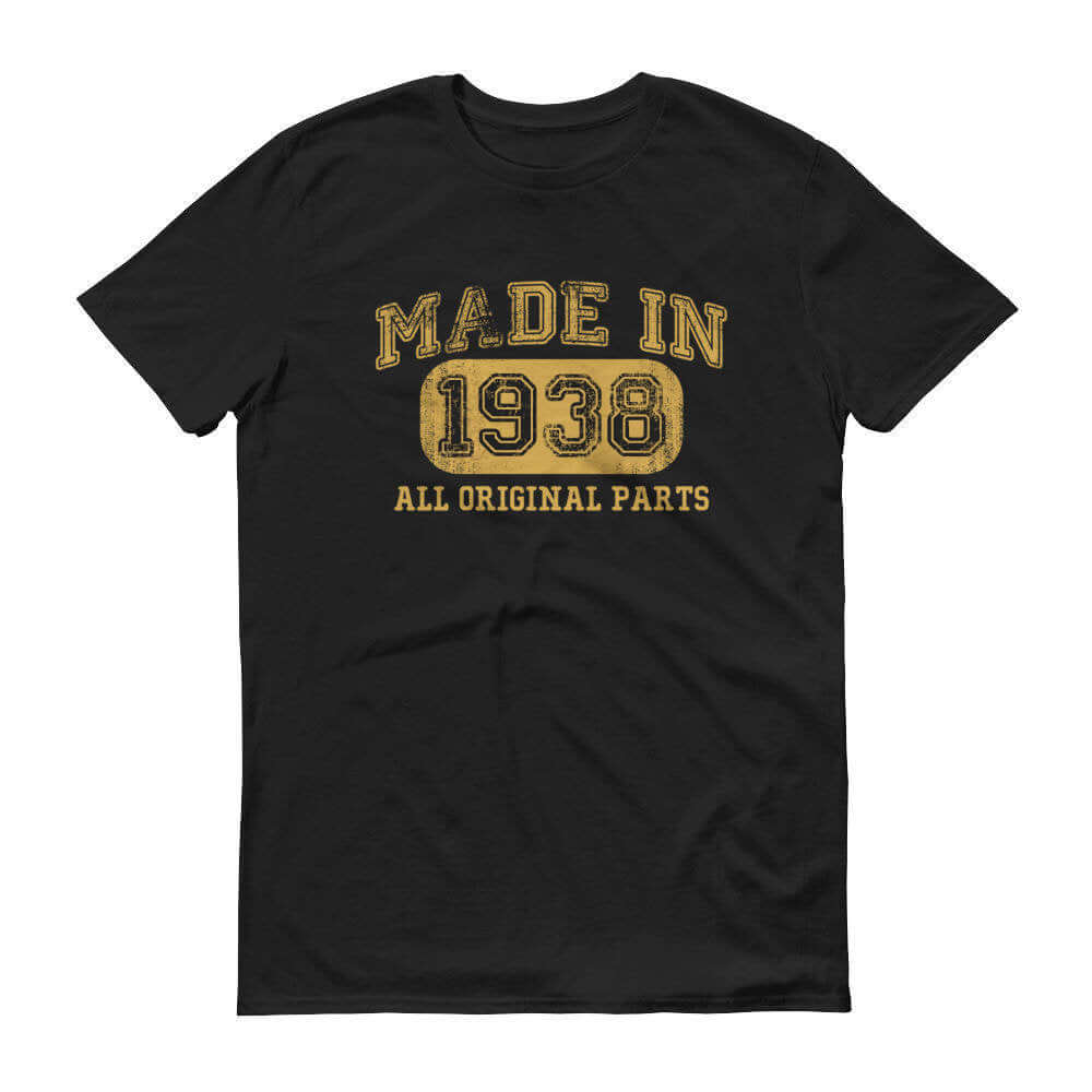 1938 Birthday Gift, Vintage Born in 1938 t-shirt for men, 82n Birthday, Made in 1938 T-shirt, 82 Year Old Birthday Shirt - 1938 Collection