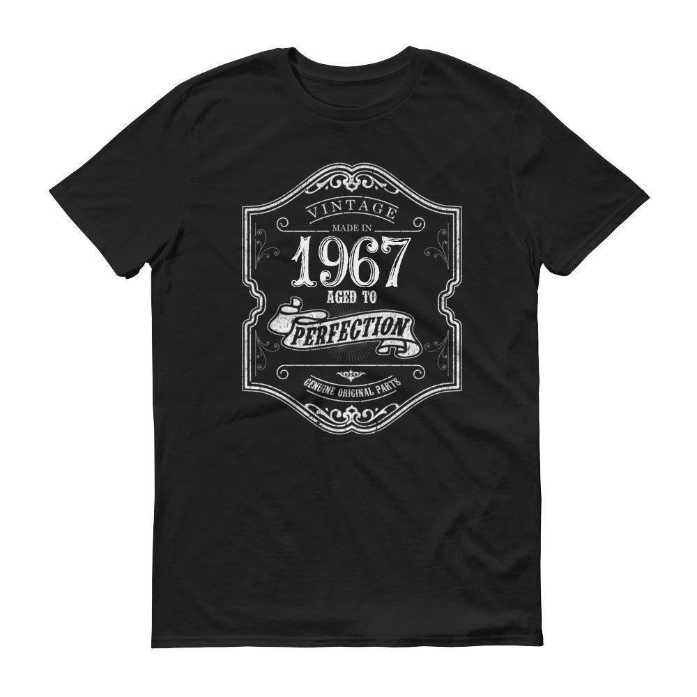 1967 Birthday Gift, Vintage Born in 1967 t-shirt, 53rd Birthday shirt, Made in 1967 T-shirt, 53 Year Old Birthday Shirt - 1967 Collection Size: SDesign: #5Color: Black