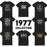 1977 Birthday Gift, Vintage Born in 1977 t-shirt, 43rd Birthday shirt, Made in 1977 T-shirt, 43 Year Old Birthday Shirt 1977 Collection