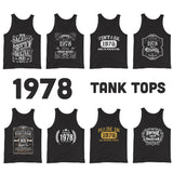 1978 Birthday Gift, Vintage Born in 1978 Tank tops for men women 42nd Birthday Tanks for him her, Made in 1978 T-shirt, 42 Year Old Birthday