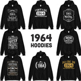 1964 Birthday Gift, Vintage Born in 1964 Hooded Sweatshirt for women men, 56th Birthday Hoodie for her him, Made in 1964 hoodies 56 Year Old