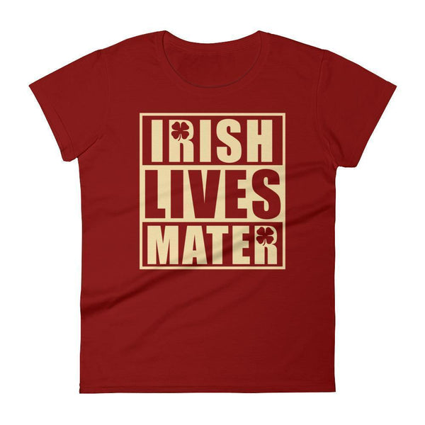 Irish Lives Matter Women's St Patrick Day Shamrock Shirt Independence Red / 2XL T-Shirt BelDisegno