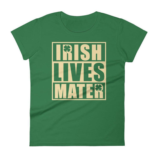 Irish Lives Matter Women's St Patrick Day Shamrock Shirt Kelly Green / 2XL T-Shirt BelDisegno