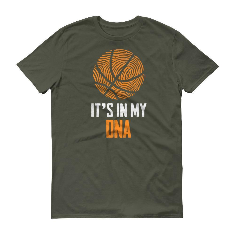It Is In My DNA Fingerprint Basketball Funny T-shirt City Green / 3XL / Men T-Shirt BelDisegno