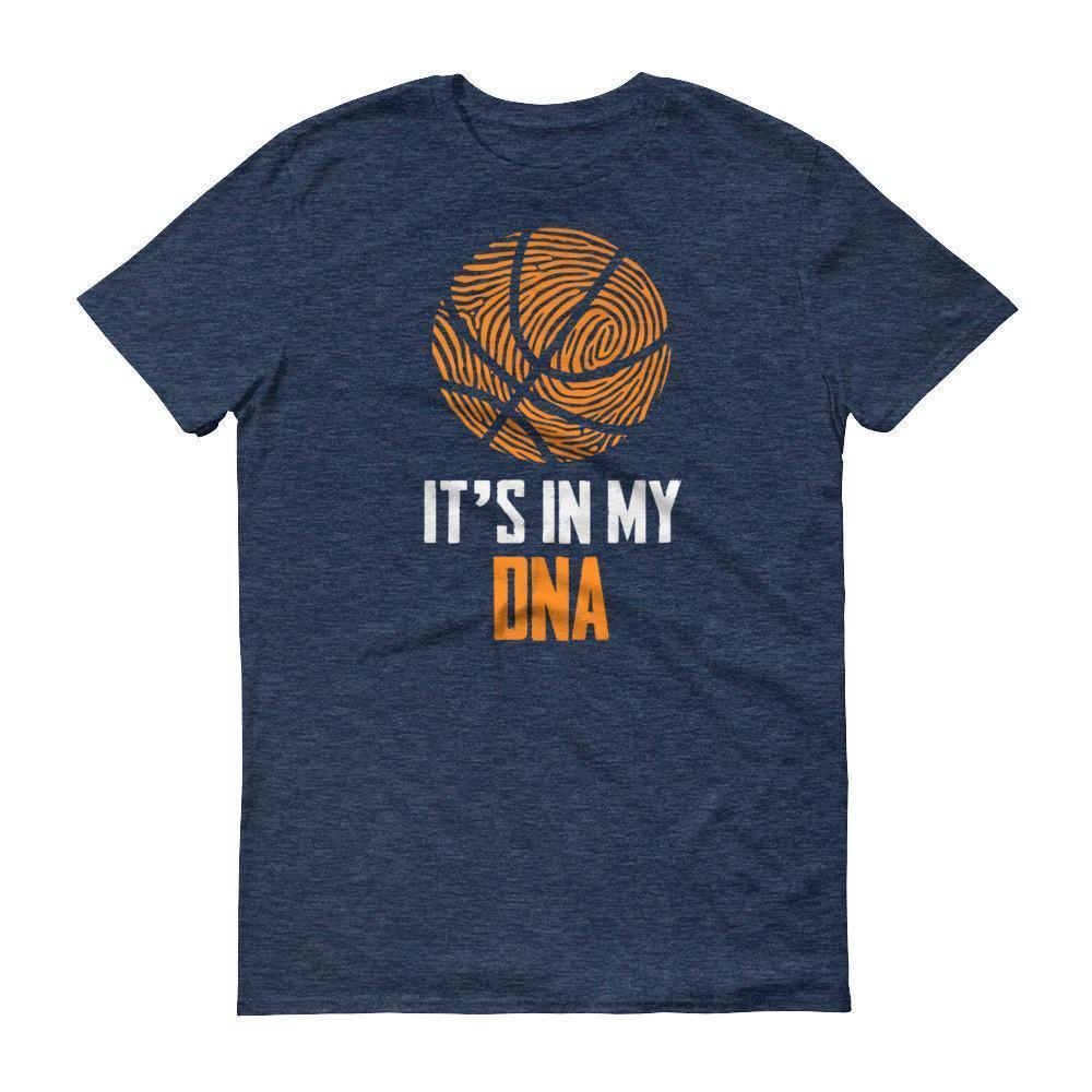 It Is In My DNA Fingerprint Basketball Funny T-shirt Heather Blue / 3XL / Men T-Shirt BelDisegno