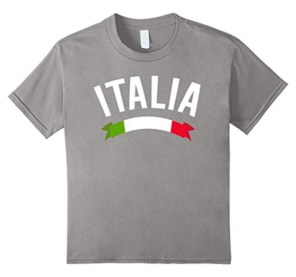 Italy Italian Flag Italia Tricolore Maglietta T-shirt Heather Grey / 3XL T-Shirt BelDisegno