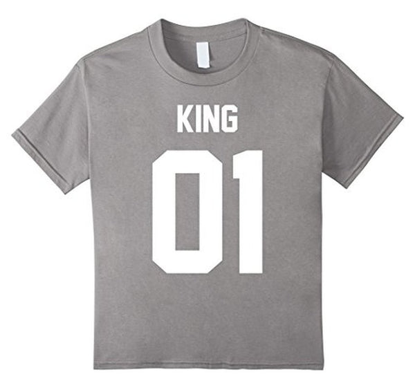 King 01 Matching Couple s jersey style s T-shirt Heather Grey / 3XL T-Shirt BelDisegno