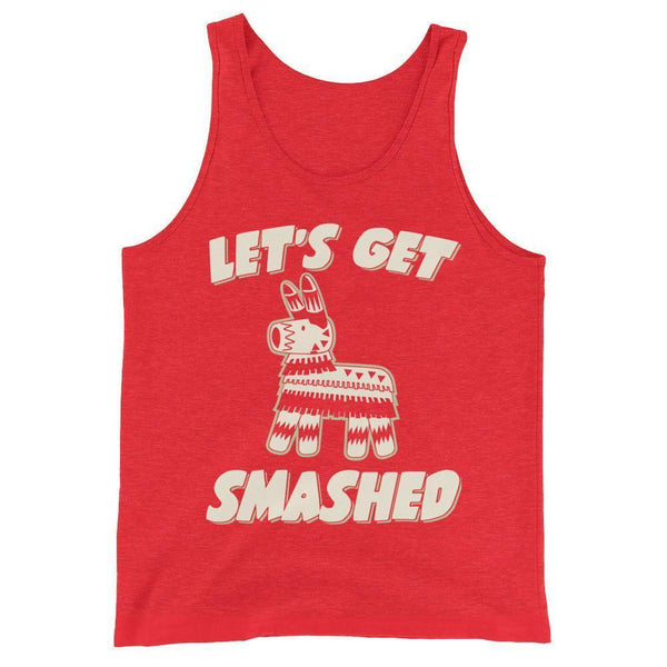 Let's get smashed Tank Top Red Triblend / 2XL Tank Top BelDisegno