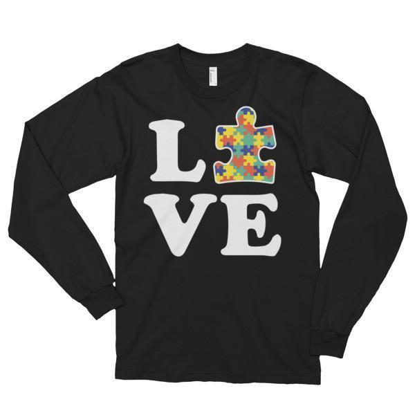 Love Autism Autism Awareness T-shirt Solid Black / 2XL T-Shirt BelDisegno