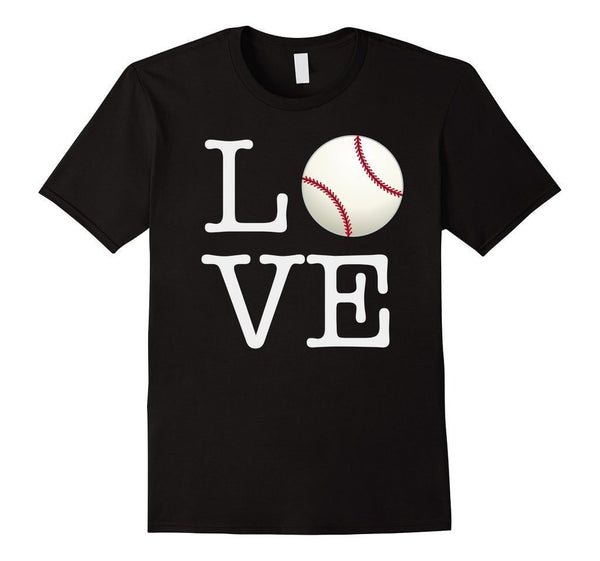 Love Baseball ball T-shirt Black / 3XL T-Shirt BelDisegno