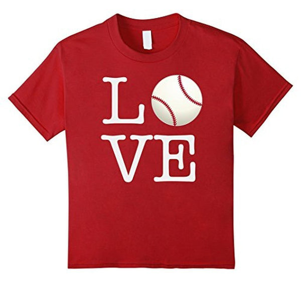 Love Baseball ball T-shirt Cranberry / 3XL T-Shirt BelDisegno