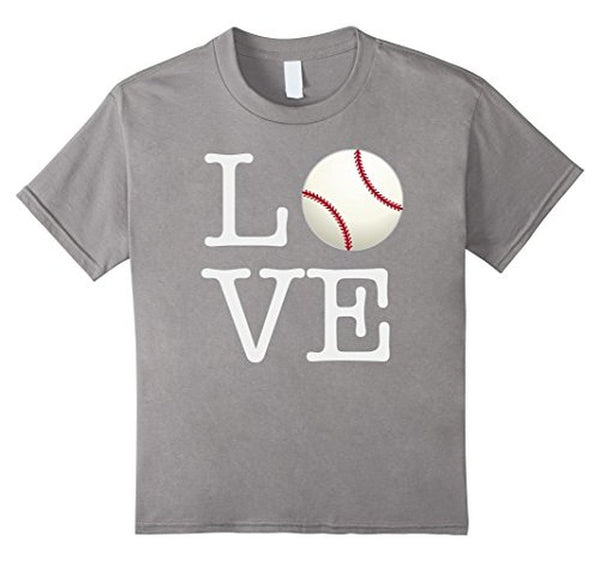 Love Baseball ball T-shirt Heather Grey / 3XL T-Shirt BelDisegno