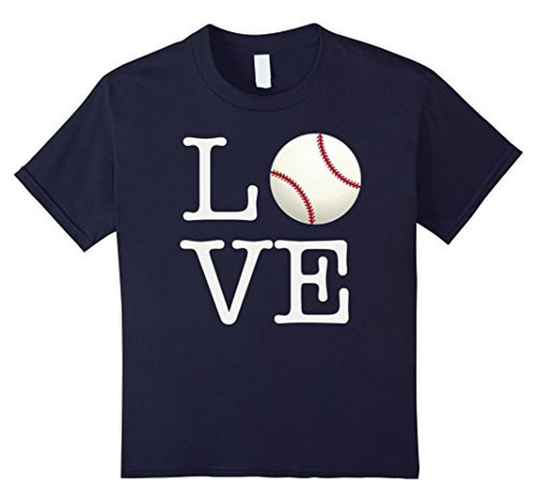 Love Baseball ball T-shirt Navy / 3XL T-Shirt BelDisegno