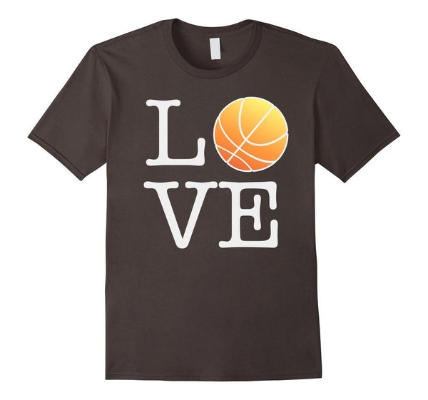 Love Basketball Ball T-shirt Asphalt / 3XL T-Shirt BelDisegno